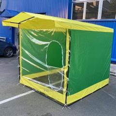 Защитная прозрачная передняя стенка для торговой палатки