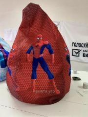 Кресло груша мешок Человек паук для мальчика